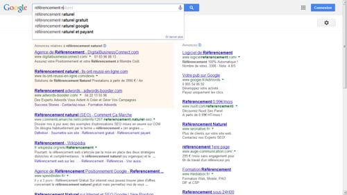 google suggest referencement gratuit