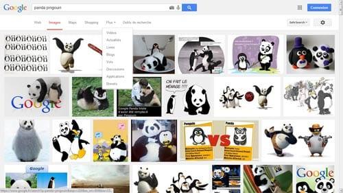 recherche universelle google panda pingouin