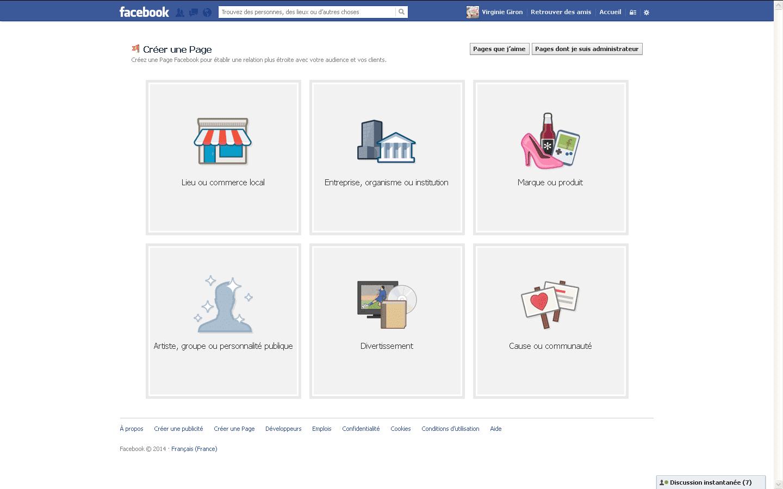 facebook type-de-page