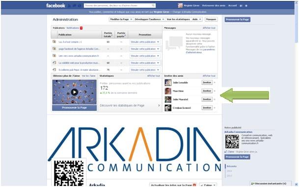 facebook invite amis
