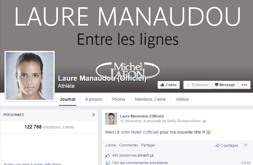 laure manaudou facebook vol disneyland